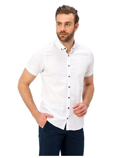 LC Waikiki Kısa Kollu Gömlek Beyaz